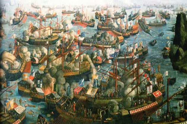 Битва при Лепанто. Ф. Бертелли 1572 г.