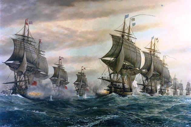 Чесапикское сражение. Произошло в устье Чесапикского залива 5 сентября 1781 г., между британским и французским флотами. Решающее сражение на море в американской Войне за независимость