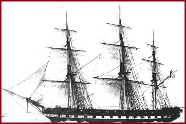 Французский 40-пушечный фрегат «Клоринд» типа «Палас» постройки 1808 г.