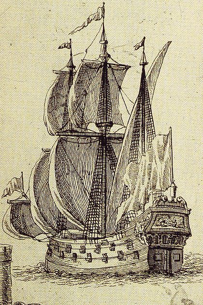 46-пушечный фрегат Азовского флота «Крепость» постройки 1699 г.