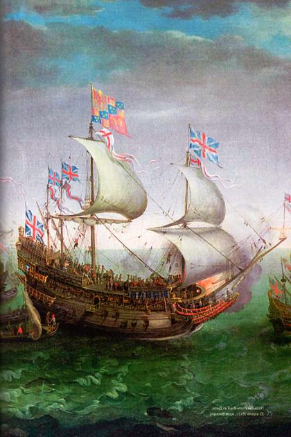 «Корона», идущая на 3-х парусах