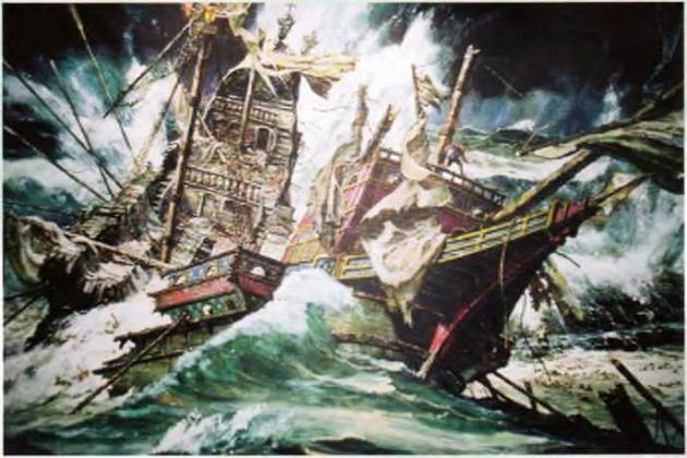 Гибель в атлантическом шторме галеаса «Жирона» из Непобедимой армады