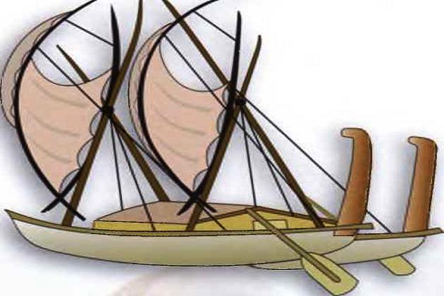 Классическая ваха каулуа в традиционной окраске. Новая Зеландия - Французская Полинезия