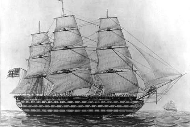 Самый мощный американский линейный корабль - 136-пушечная «Пенсильвания» постройки 1816 г.