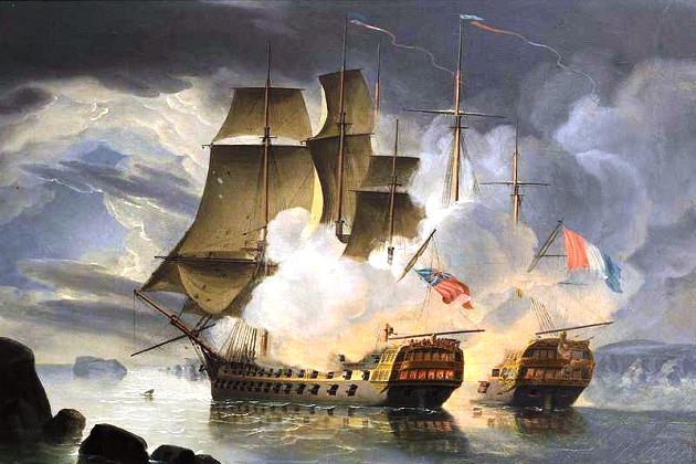 Первый русский линейный корабль - 54-пушечный «Гото Предистанция» («Божье предвидение»), построенный в 1700 г.