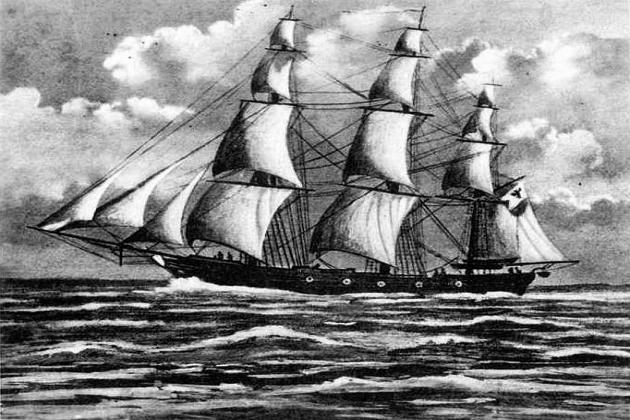 Прусский (германский) парусный корвет «Амазон». 1844 г.