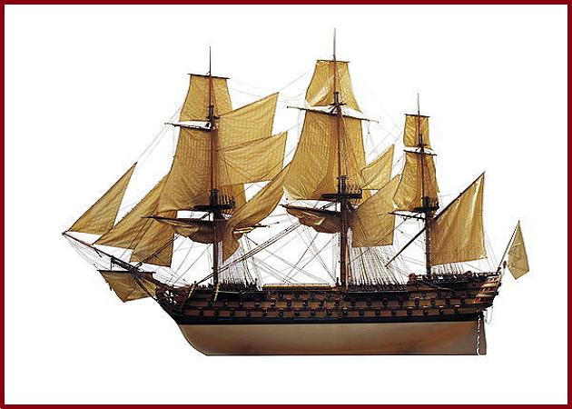 Проекцияя французского 120-пушечного линейного корабля«Аустерлиц» 1808 г. постройки