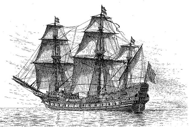 Один из первых шведских линейных кораблей - 107-пушечный «Марс». 1664 г.