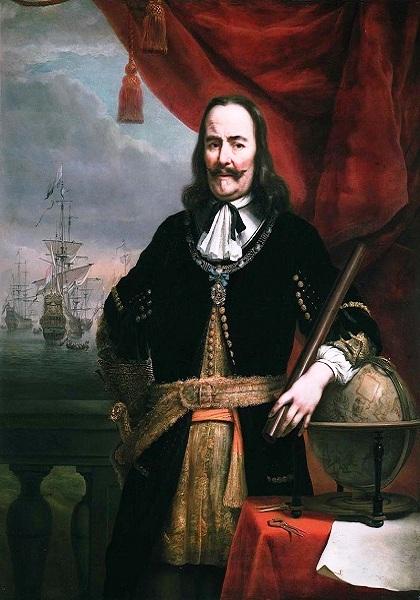 Выдающийся голландский адмирал, основоположник классического военно-морского искусства Михаэль де Рейтер (1607-1676 гг.)