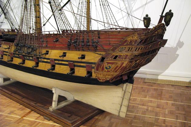 Модель британского 50-пушечного линейного корабля 4-го ранга