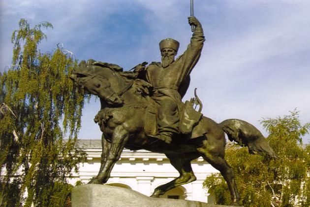 Памятник гетману П. Сагайдачному в Киеве