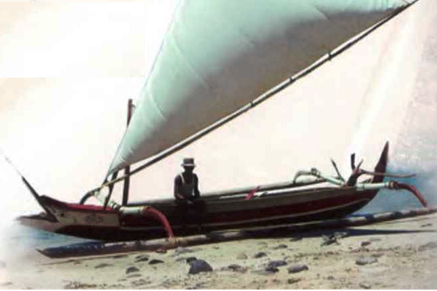 Проа-тримаран одного из островов Индонезии. 1970 г.