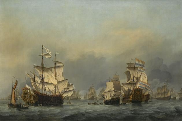 Сдача Royal Prince после четырехдневной битвы 1-4 июня 1666 г.