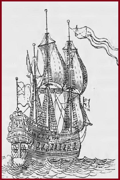 Шнява на гравюре «Боевые порядки русского юга на пути к Выборгу в мае 1710 года» Пикарта. 1711 г.
