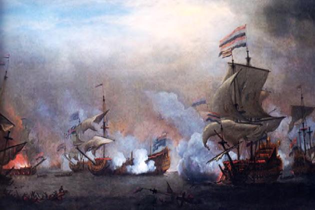 Сражение английского флота у острова Тексель 21 августа 1673 г.