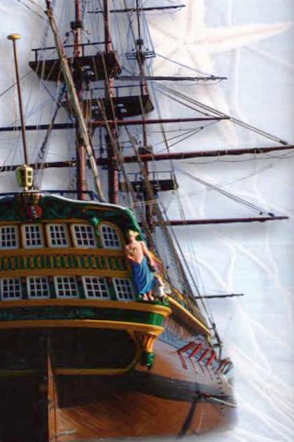 Современная реплика типичного военного корабля Нидерландов начала Англо-голландских войн