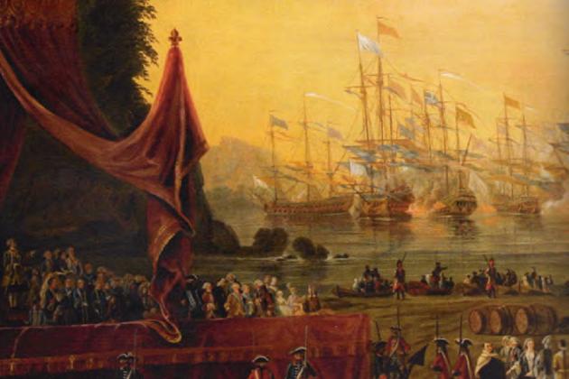 Военно-морские маневры в Тулоне, июль 1777 г. Национальный музей военно-морского флота, Париж