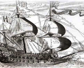Военно-парусный флот, его рождение в Англии