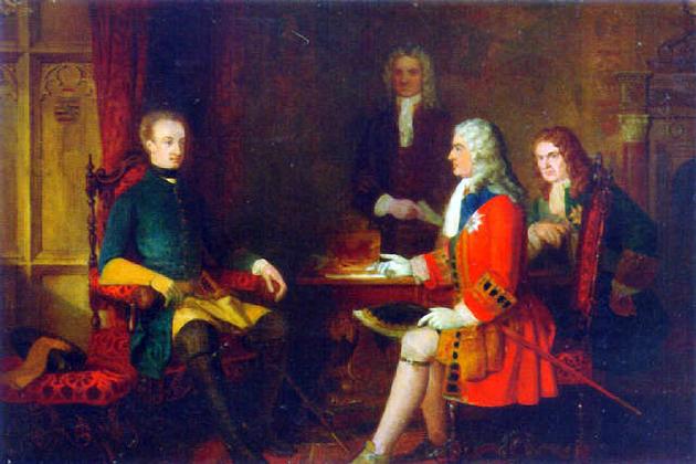 Встреча Карла XII и герцога Мальборо в Альтранштадте