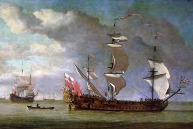 34-пушечный британский фрегат «Чарльз Галлей» - систершип захваченного Уильямом Киддом «Адвенччур Галлей»