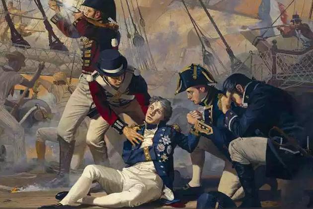 Cо-творец маневренной тактики адмирал Г. Нельсон. Был смертельно ранен в Трафальгарском сражении