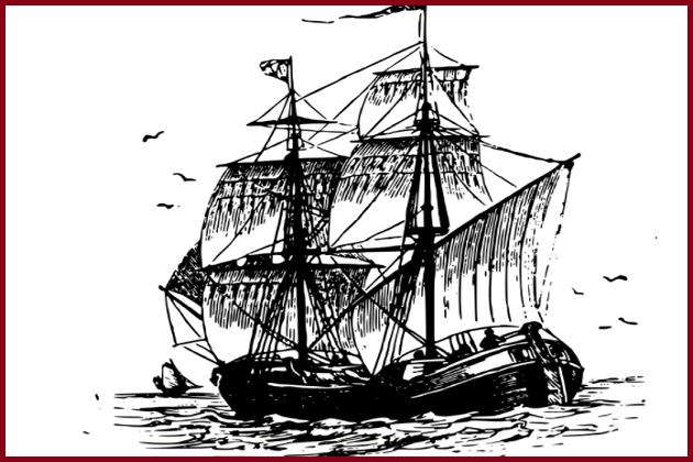 Парусный корабль биландер 1905 г. постройки