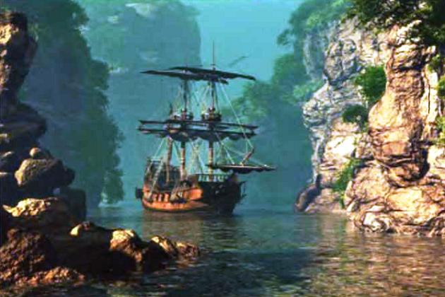 Бухта – место отдыха и ремонта кораблей пиратов