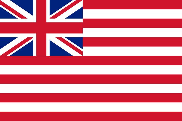 Флаг Ост–индской компании с 1801 по 1859 г.