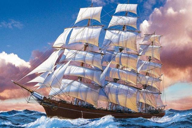 Рекордсмены в истории парусного флота. Клиппер «Катти Сарк» 1869 г. Официально самый скоростной парусный корабль - 21 узел