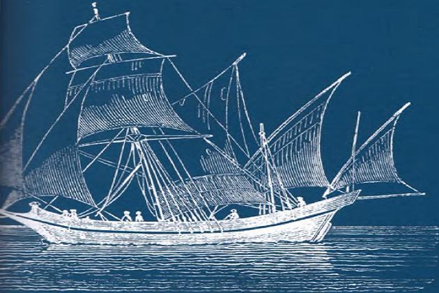 Пример малого и малоизвестного коммерческого парусника – «Саколева». Иллюстрация из французского журнала 1842 г.