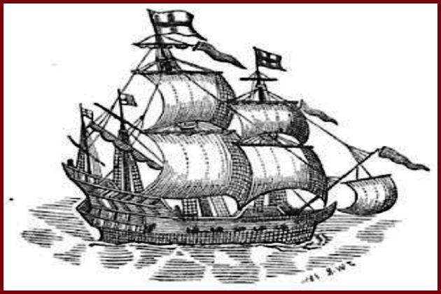 Один из первых британских ост-индцев – построенный в 1602 г. 38-пушечный «Красный дракон»