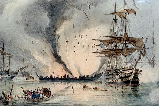 74-пушечный британский линейный корабль 3-го ранга «Альбион». 1802 г.