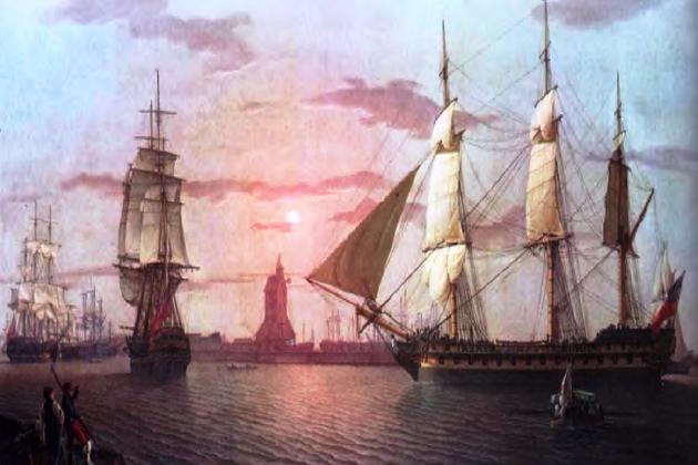 Один из наиболее мощных британских ост-индцев – 90-пушечный «Варлей», построенный в 1796 г.