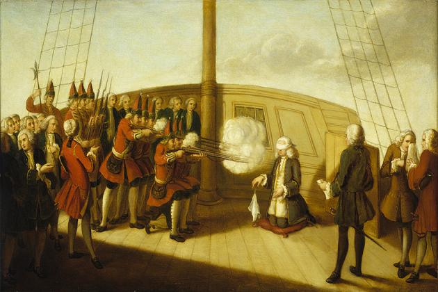 Расстрел адмирала Бинга на борту «Монарх»