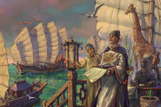 Корабли сокровищницы адмирала Чжэн Хэ XIII в. Наибольшее количество мачт – 9. Наибольшие размеры – 166 на 64 м. Наибольшее водоизмещение – 19000 т.