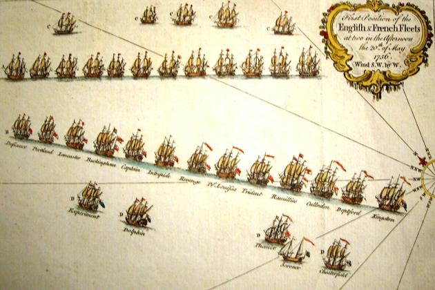 Линейная тактика в сражении при Менорке 20 мая 1756 г.