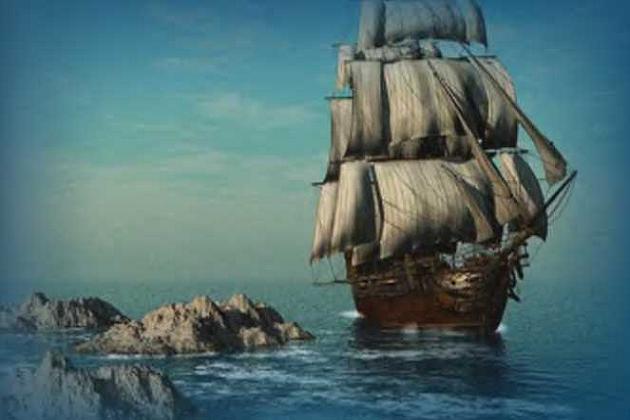 Типичный торговый парусник XIII в. внешне очень походил на военный корабль