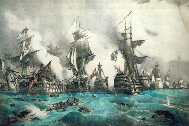 Трафальгарская битва, Монтегю Доусон. Национальный морской музей, Париж