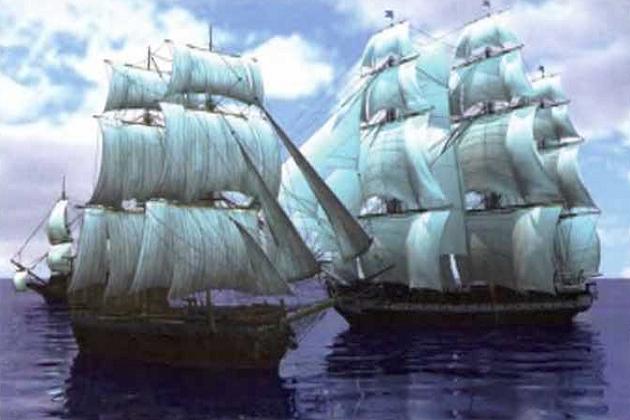 С военным кораблем могли справиться в лучшем случае несколько кораблей пиратов