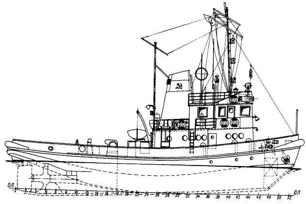 Морской линейный буксир