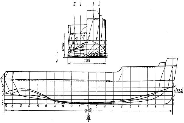 Чертеж винтового линейного толкача-буксира