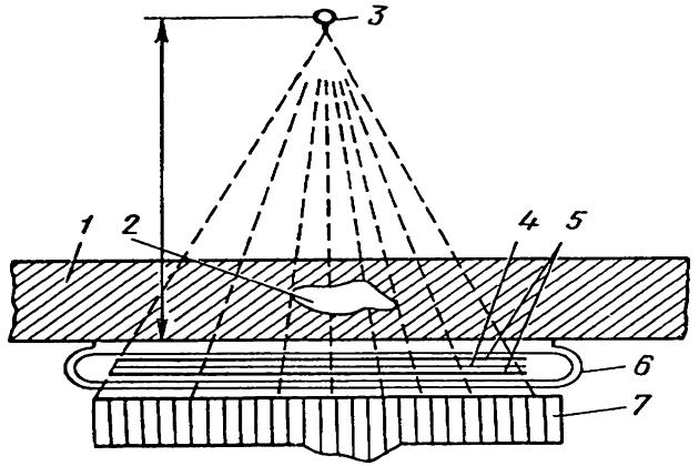 Схема рентгено-гаммаграфирования