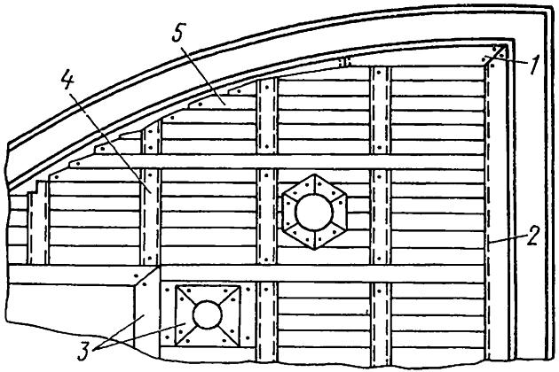 Покрытие палубы. Чаковый деревянный настил