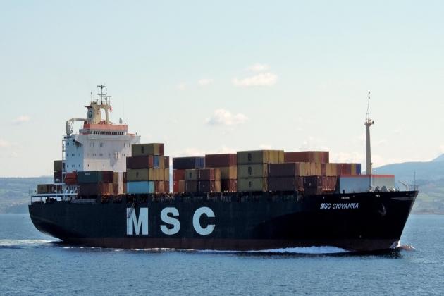 Контейнеровоз MSC Giovanna