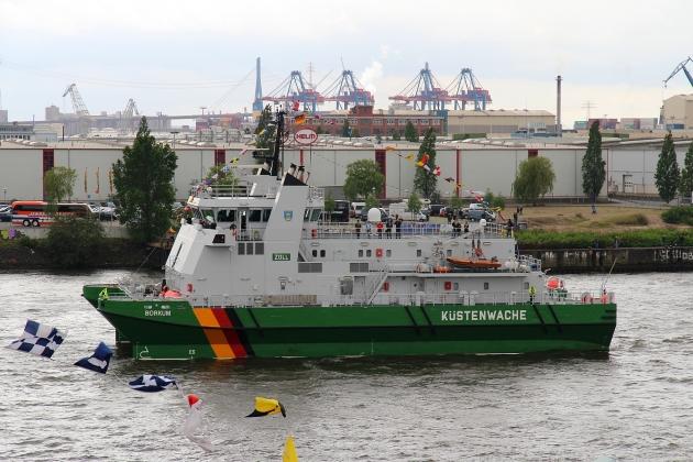 Виды ремонта судна - сторожевой катер Borkum