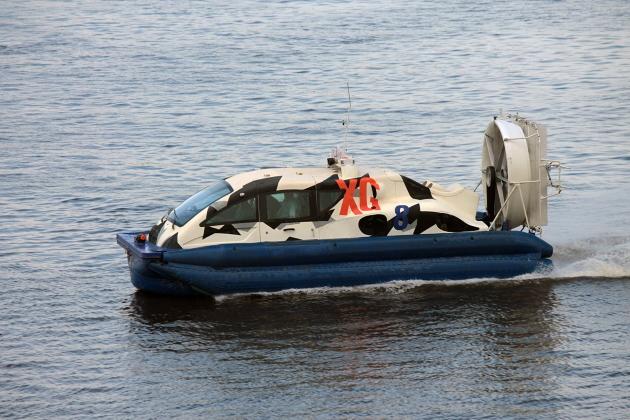 Приемка судна из ремонта - судно на воздушной подушке XG-8