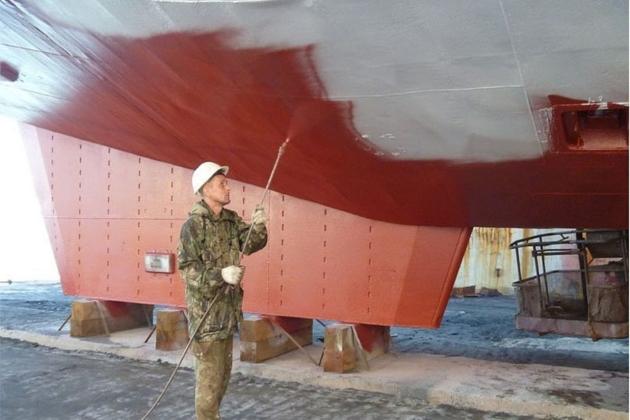 Покраска корпуса судна