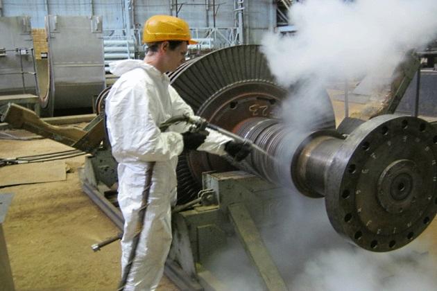 Ротор турбины на ТЭЦ