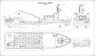 Судостроительные чертежи и конструкторские документы по принятым стандартам