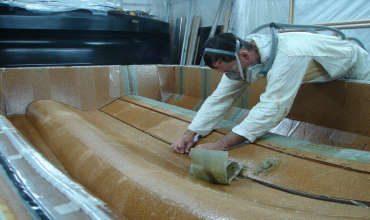 Изготовление палубы судна из стеклопластика